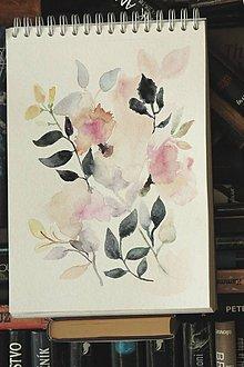 Kresby - snová kytica - 10181674_