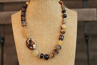 Náhrdelníky - Masívny náhrdelník z minerálov - 10180071_