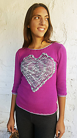 Topy - Tričko so strieborným srdcom - 10182143_