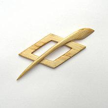 Odznaky/Brošne - Javorová ihlica na šál - kosoštvorec - 10180466_