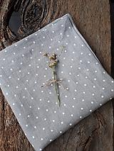 Úžitkový textil - Ľanová štóla Dots Everywhere - 10180322_