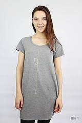 Tričká - Dámske tričko sivé M08 IO19 - 10180021_