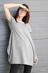 Tričká - Dámske tričko sivé M08 IO19 - 10180022_