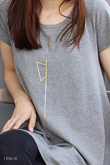 Tričká - Dámske tričko sivé M08 IO19 - 10180027_