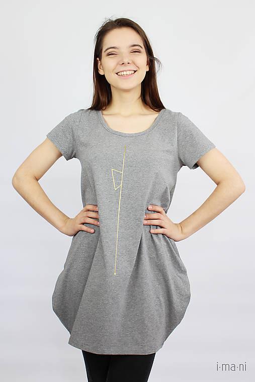 Dámske tričko sivé M08 IO19