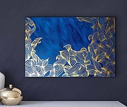 Obrazy - Obraz Blue Gold - 10183951_