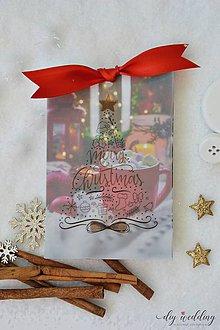 Papiernictvo - Vianočná pohľadnica Šálka - 10187727_