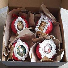Dekorácie - Vianočná guľa s rámikom - 10183875_