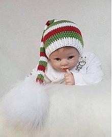 Detské čiapky - Vianočná čiapočka - 10187249_