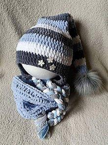 Detské čiapky - Plyšový škriatok :) - 10184178_