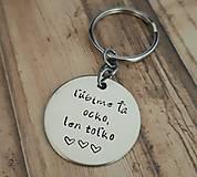 Kľúčenky - Kľúčenka s nápisom na želanie - 10186581_