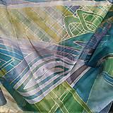 Šatky - Hodvábna šatka Borneo - 10187274_