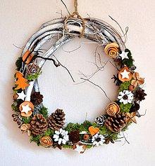 Dekorácie - Vianočný veniec-prírodný-veľký - 10184873_