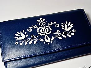 Peňaženky - Modrá peněženka - vzor