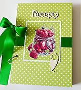 Receptár zelený s jahodami