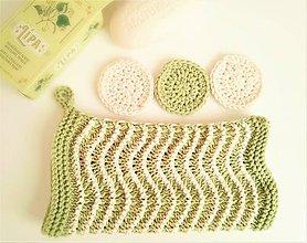 Úžitkový textil - Sada do kúpelne  - pistáciová so smotanou - 10184817_