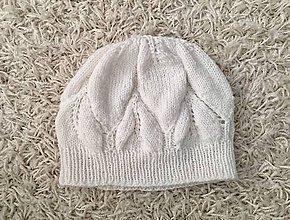 Detské čiapky - Biela čiapočka - 10185837_