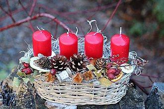 Dekorácie - Vianočný svietnik - 10184222_