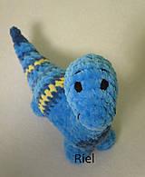 Hračky - Háčkovaný dinosaurus Šimonko - 10187774_