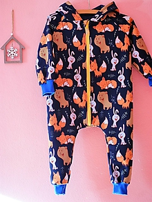 Detské oblečenie - Overal zvieratká z lesa - 10184758_