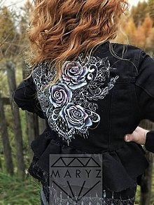 Kabáty - Riflova malovana bunda sako - 10185671_