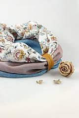 Šály - Pôvabný dámsky kvetinový ľanový nákrčník