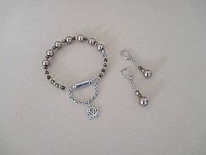 Sady šperkov - Náramok a náušnice - chirurgická oceľ - 10184485_