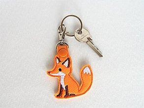 Kľúčenky - Prívesok líštička (karabínka) - 10188131_