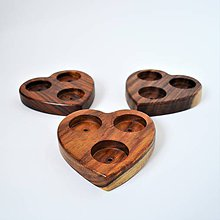 Svietidlá a sviečky - Drevené srdce – svietnik - 10185042_