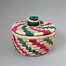 Krabičky - (Vianoce) ECO Prútená šperkovnica z palmových listov - 10186374_