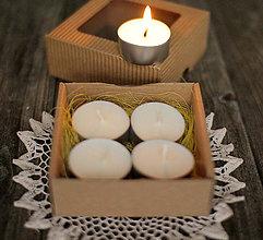 Svietidlá a sviečky - Čajové sviečky zo sójového vosku - 10184292_