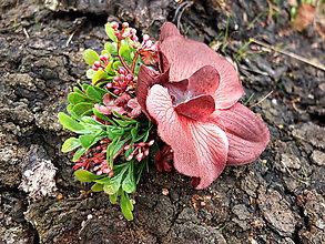 Ozdoby do vlasov - vínová orchidej - 10185485_