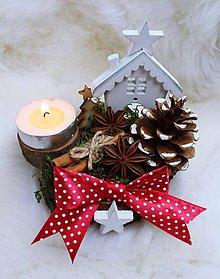Dekorácie - Vianočný svietnik.. - 10184941_