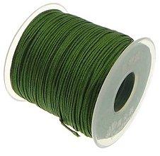 Galantéria - SN101 Lesklá šnúrka 1 mm / cena za 1 m (Zelená) - 10186516_