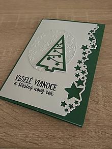 """Papiernictvo - Vianočná pohľadnica """"Stromček"""" - 10187589_"""