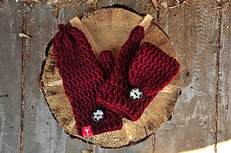Rukavice - rukavice (Bordová) - 10184135_