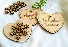 Dekorácie - Vianočné srdce s menom - 10186041_