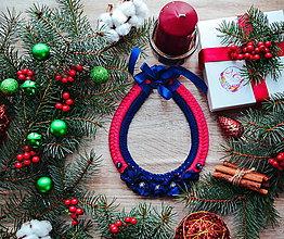 Náhrdelníky - Vianočný náhrdelník - 10185605_