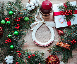 Náhrdelníky - Vianočný náhrdelník - 10185998_