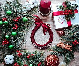 Náhrdelníky - Vianočný náhrdelník - 10186014_