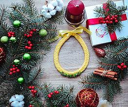 Náhrdelníky - Vianočný náhrdelník - 10186492_