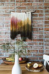 Nástenná dekorácia z dreva a vlny