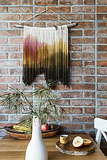 """Dekorácie - Nástenná dekorácia z dreva a vlny """"Púštna ruža"""" - 10185066_"""