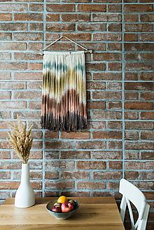 """Dekorácie - Nástenná dekorácia z dreva a vlny """"Horské masívy"""" - 10185100_"""