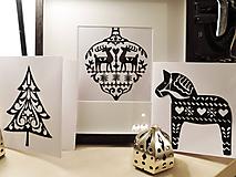 Obrázky - Vianočné pohľadnice 4ks - s rámikom, vyrezávaný papier - 10188118_