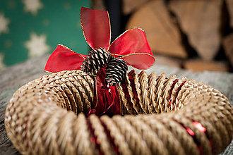Dekorácie - Vianočný veniec z papiera - 10183844_