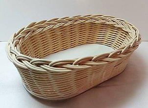 Košíky - Košík - ovál 22 cm - 10186788_