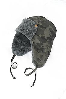 Doplnky - Zimná čiapka  - nepremokavá Army - 10187875_
