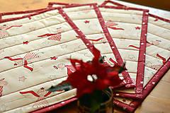 Úžitkový textil - Vianočné prestieranie obojstranné - 10187082_