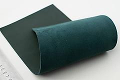 Suroviny - Zbytkový koža tmavozelená - 10187181_